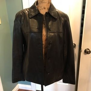 Nine West Leather Jacket. Size Medium